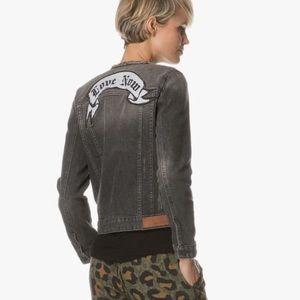 Zadig&Voltaire Kiok gris brode denim jacket